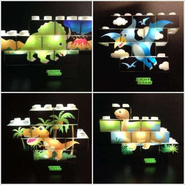 LIGHT STAX® Junior Puzzle Stax Dino Edition