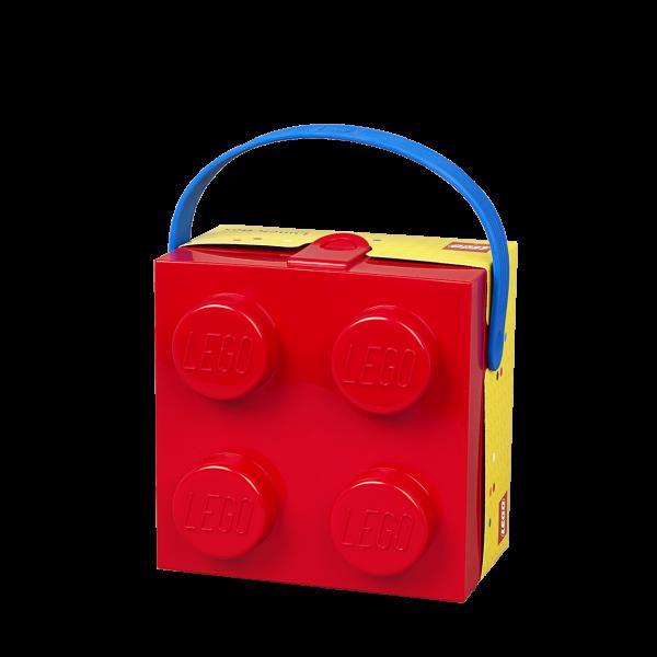 LEGO® 4024 Lunchbox mit Griff (rot/blau)