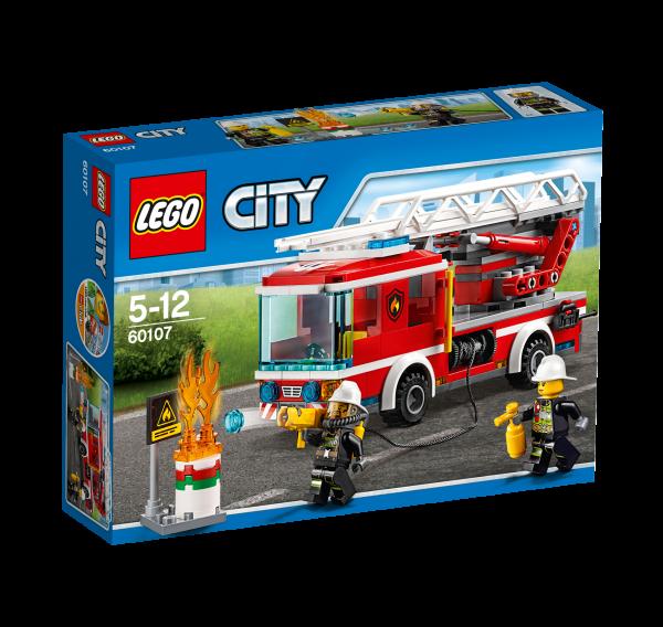 LEGO® CITY 60107 Feuerwehrfahrzeug mit fahrbarer Leiter