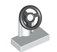 LEGO® 9551 Lenkrad weiss/schwarz