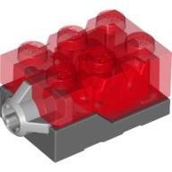 LEGO® 4666707 Lichtstein 2x3x1,33 rot