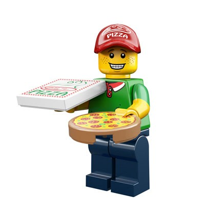 LEGO® Minifiguren Serie 12 - Pizza Delivery Man 71007-02
