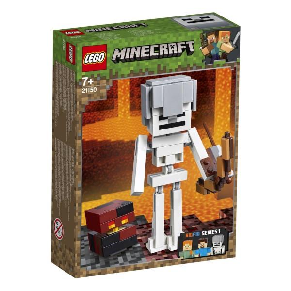 LEGO® Minecraft 21150 Minecraft™-BigFig Skelett mit Magmawürfel