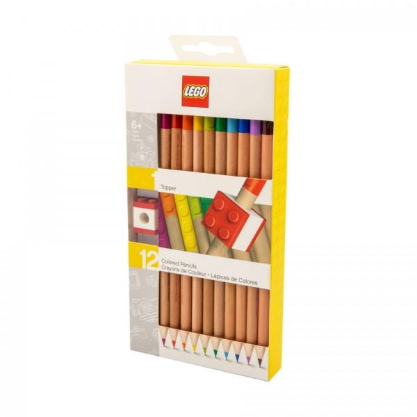 LEGO® 52064 Buntstifte mit Topper - 12 Farben