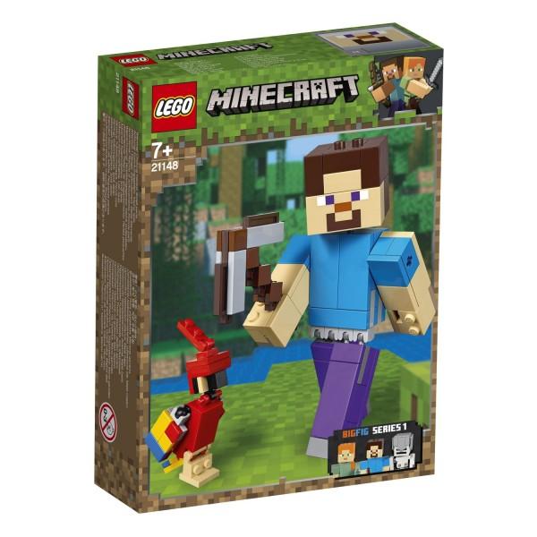 LEGO® Minecraft 21148 Minecraft™-BigFig Steve mit Papagei