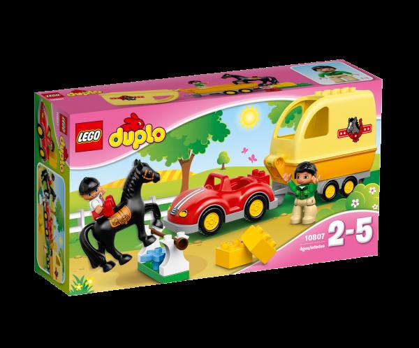 LEGO® DUPLO® 10807 Wagen mit Pferdeanhänger
