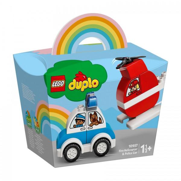 LEGO® DUPLO® 10957 Feuerwehrhubschrauber und Polizeiauto