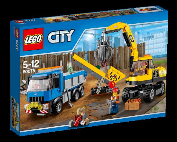 LEGO® CITY 60075 Bagger und Transportwagen