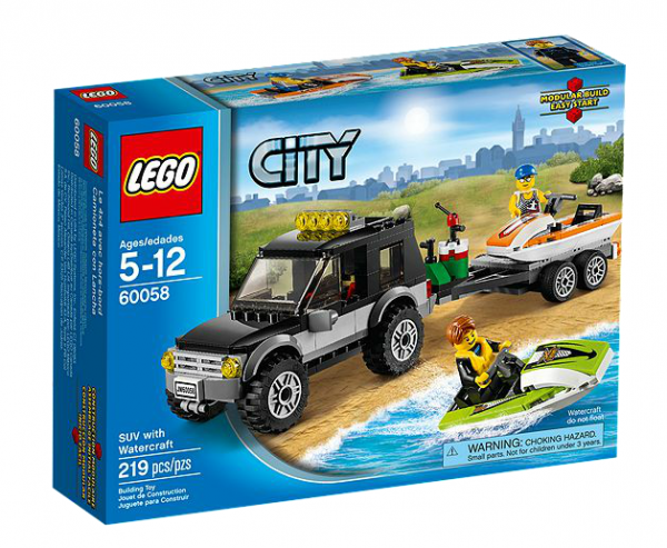 LEGO® CITY 60058 Geländewagen mit Wasserfahrzeugen