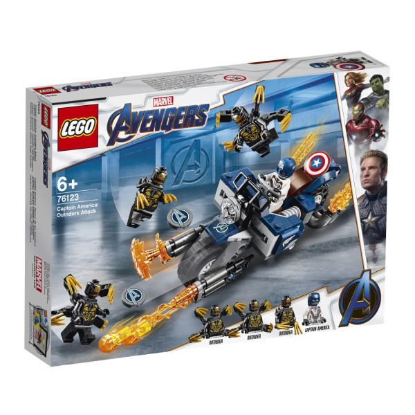 LEGO® Marvel Super Heroes 76123 Captain America: Outrider-Attacke