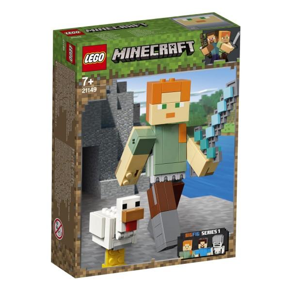 LEGO® Minecraft 21149 Minecraft™-BigFig Alex mit Huhn