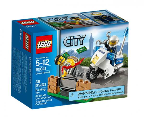 LEGO® CITY 60041 Polizei-Motorrad-Jagd
