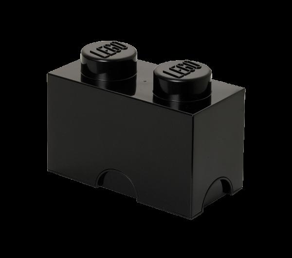 LEGO® Storage Brick 2 schwarz