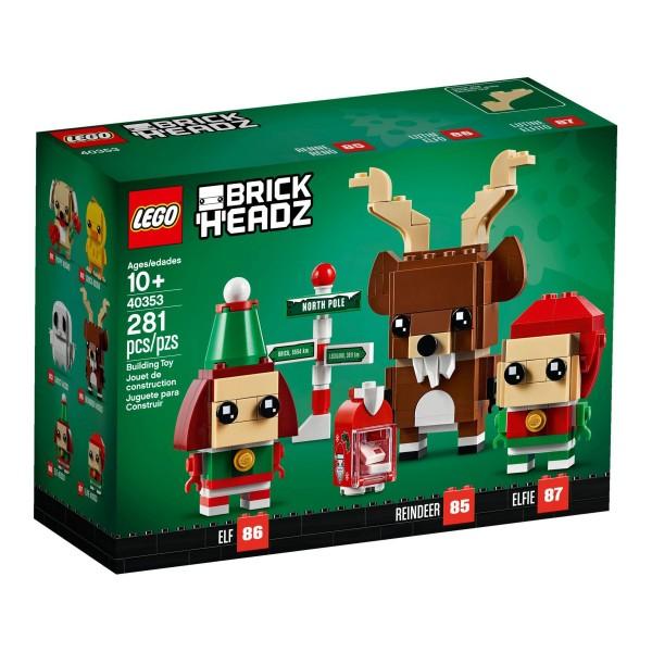 LEGO® BrickHeadz 40353 Rentier und Elfen