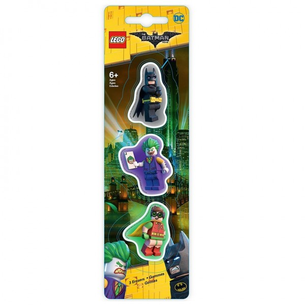 LEGO® 51760 Radierer 3er Pack LEGO® Batman Movie