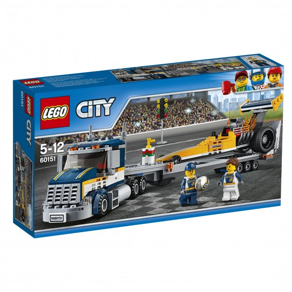 LEGO® CITY 60151 Dragster-Transporter