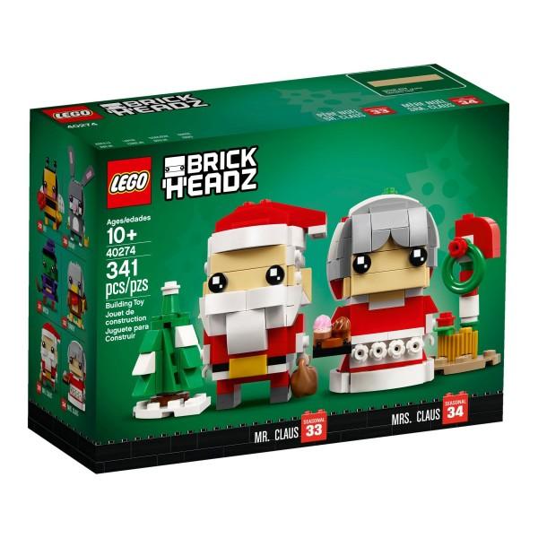 LEGO® BrickHeadz 40274 Herr und Frau Weihnachtsmann
