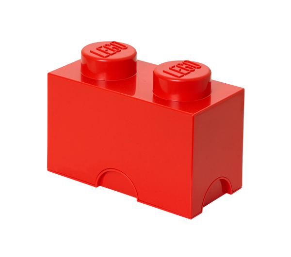LEGO® Storage Brick 2 rot