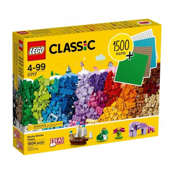 LEGO® Classic 11717 Extragroße Steinebox mit Bauplatten