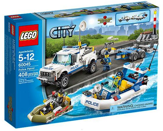 LEGO® CITY 60045 Polizei-Boot-Transporter