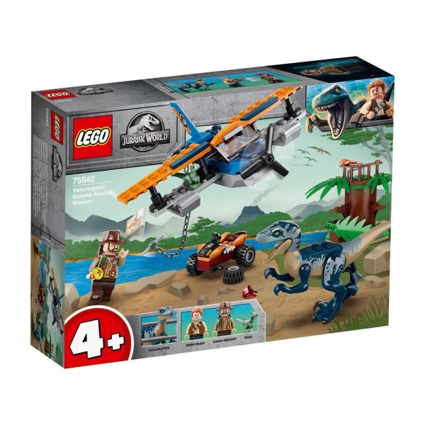 LEGO® Jurassic World 75942 Velociraptor: Rettungsmission mit dem Doppeldecker