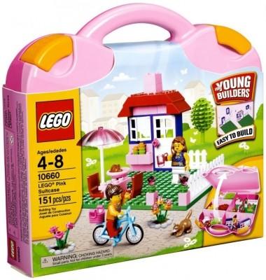 Pinkfarbener LEGO® Koffer 10660