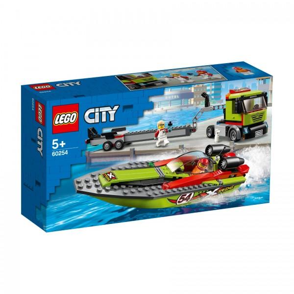 LEGO® CITY 60254 Rennboot-Transporter