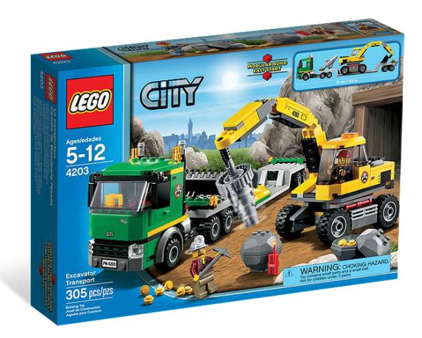 LEGO® CITY 4203 Grubenbagger mit Transporter